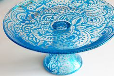 painted glass cakestand tutorial