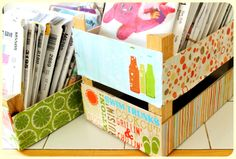 Repurposed Clementine Boxes