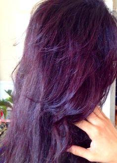 My New Dark Burgundyplum Hair Cool Toned