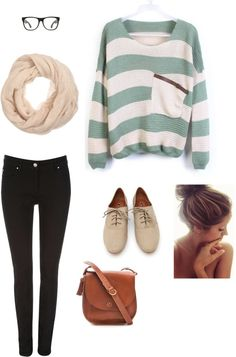 Comfy fall look.