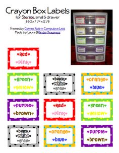 Crayon Storage and Labels