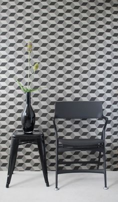 Ferm Living Squares Black/Bronze Wallpaper, available at #polkadotpeacock. #peacocklove #FERMliving
