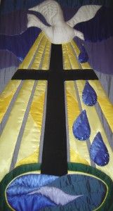 church banners, baptism banner, cross