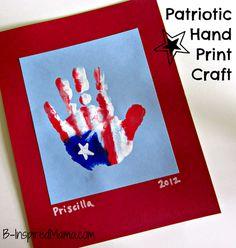 Patriotic Handprint Flag Craft for Kids