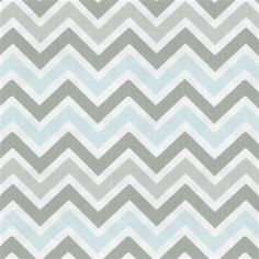 Mist and Gray Chevron Fabric