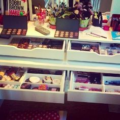 Makeup organization - this picture makes me feel less like a makeup horder