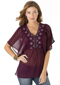 Chloe Kimono from Alloy. I don't generally like purple but... I'll make an exception with this cute top. :)