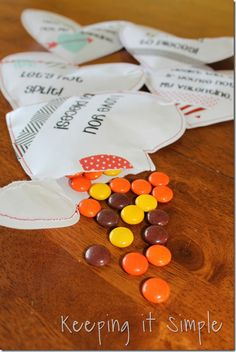 Keeping it Simple: Valentine candy heart pouches