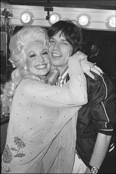 Dolly Parton and Mick Jagger