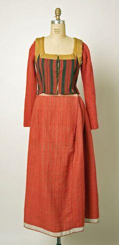 Traditional ensemble, ca. 20th century, Danish, wool.