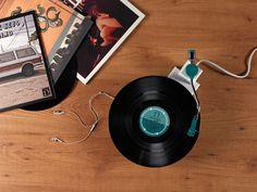 Record Player Reboot by Siddharth Vanchinathan, via Behance