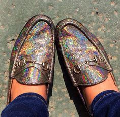 Holographic Gucci loafers... Yes please