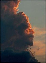 A cloud face