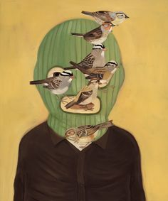"""Saatchi Online Artist: Andrew Pommier; Oil, Painting """"The Sparrows Have It."""""""