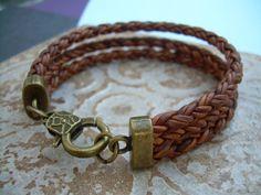 Triple Strand Braided Leather Bracelet by UrbanSurvivalGearUSA, $24.99