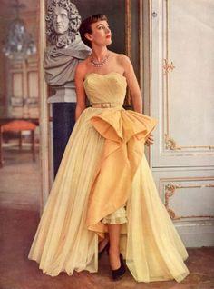 philipp pottier, robert piguet, style, 1950s, vintag fashion, dress fashion, evening gowns, coutur allur, evenings