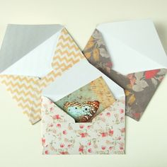 DIY: scrapbook paper envelopes