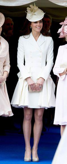 Catherine, Duchess of Cambridge, in Alexander McQueen