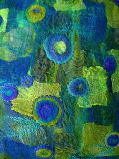 Nuno felted pillow
