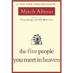 The Five People you Meet in Heaven is by far my favorite Mitch Albom novel. Extremely emotional and motivating book. Quick read too!