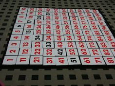 Math Coach's Corner: Hundred Chart Carpet.  Buy one or make your own--it's a great idea!