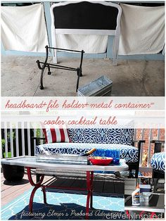 Outdoor cooler cocktail table with ProBond by @Cleverlyinspired.