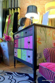 Bohemian Dresser (this site has tons and tons of inspirational bohemian decor pics)