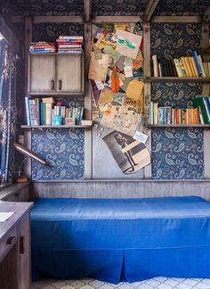 bed covers, books, cook design, boy bedrooms, colors, cobalt blue, design files, nook, blues