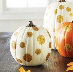 Polka dotted pumpkins