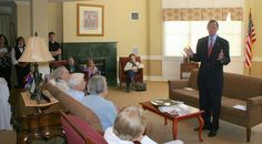 Benchmark Senior Living residents discuss politics with Senator Richard Blumenthal (D-CT).