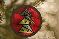stained glass ornaments