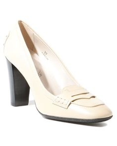 TOD'S Women's 'Kilty' Leather Penny Loafer Pump
