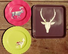 stencil plates...loving this idea. These could make great gifts. I'd also like to make one of Emory's profile.