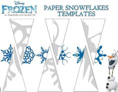 idea, craft, templates, snowflak templat, frozen snowflak