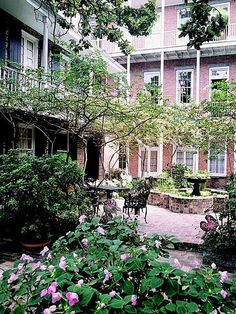 Place d'Armes Hotel Courtyard, New Orleans garden courtyard, orlean courtyard, gardens of new orleans, nola, french quarter, courtyard gardens, new orleans courtyards, places, hotels