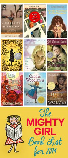 Mighty Girls Book List for Middle School Girls. For more book fun, follow us at www.facebook.com/booktasticfun