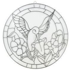 hummingbird Stained Glass Pattern