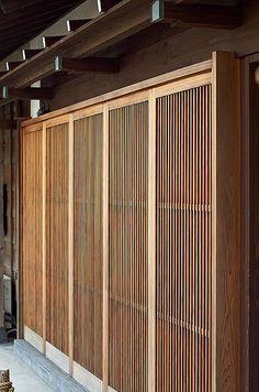 Japanese sliding doors in Kamamura, Japan