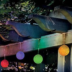 Solar color changing outdoor lights