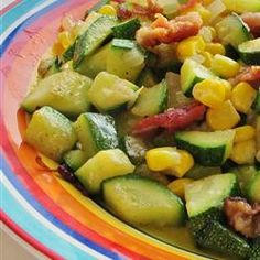 "Corn and Zucchini Melody | ""I made this tonight and my hubby loved it. He went back for seconds. Love the flavors together and it is healthy."""