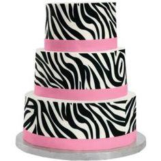 Zebra cake cute