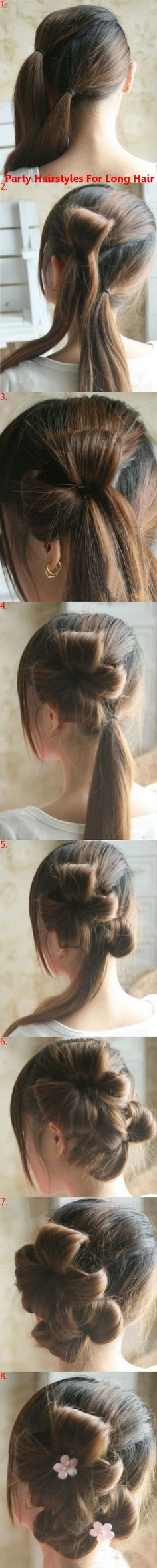 Party hairstyles for long hair party hairstyles for long hair, parties, parti hairstyl, flower hairstyl, beauti, hair style, hair bow, up do for long hair, hair idea