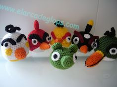 El Arca de Glops: Angry Birds Amigurumis