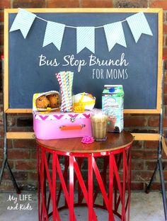 Celebrate the first day of school with a back to school bus stop brunch for moms. So fun and so simple!