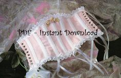 Victorian Doll Clothes Pattern Corset for a by iStitchEmbroidery, $2.75