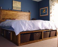 DIY Bed...Storage, storage storage!