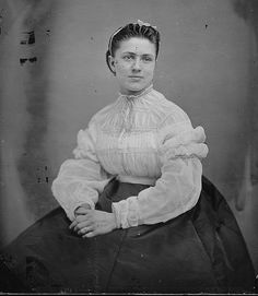 Women of the Civil War Circa 1863 Titled Lady by Matthew Brady Source Flickr Commons via US Natl Archives