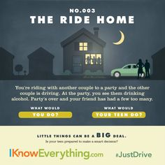 The ride home is the most important ride of all. Talk with your teen about being a smart driver during National Teen Driver Safety Week!