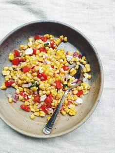 take it with you - fresh corn and tomato salad with get