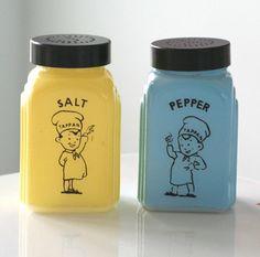vintage salt and pepper